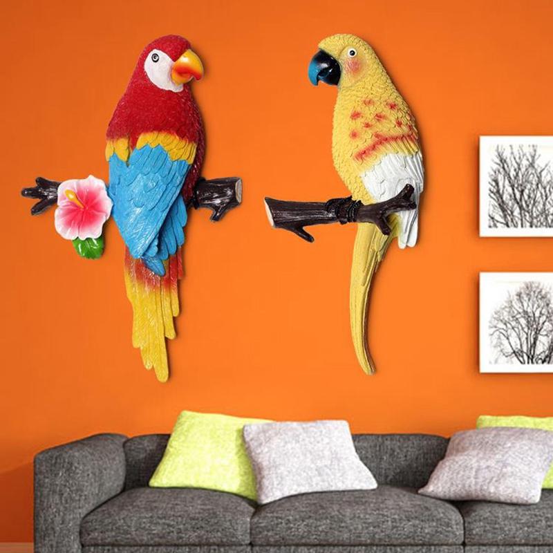 1X-Parrot-Mural-European-Style-Garden-Home-Living-Room-Background-Wall-Hang2P2 thumbnail 18
