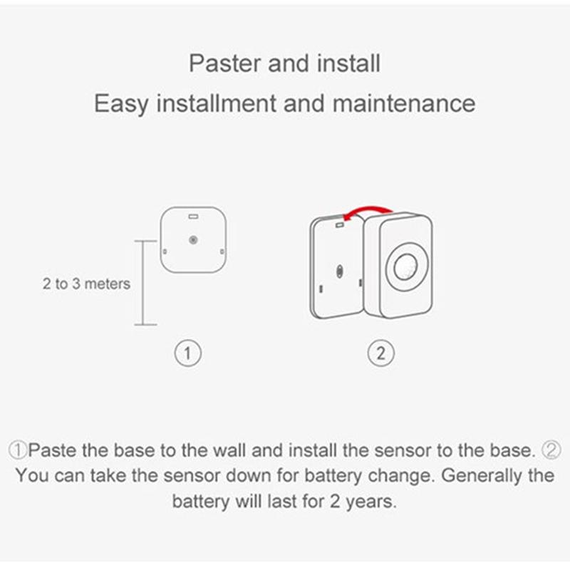Wifi-Motion-Sensor-Pir-Intelligent-Remote-Wireless-Door-Detector-For-Ios-An-Z7N9 thumbnail 3