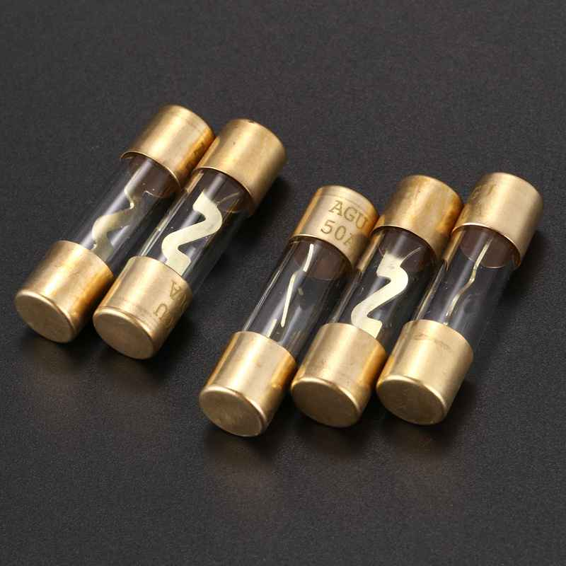 AGU Fuse 5 Pack Reliable 50 Amp Fuses 50A A4N1