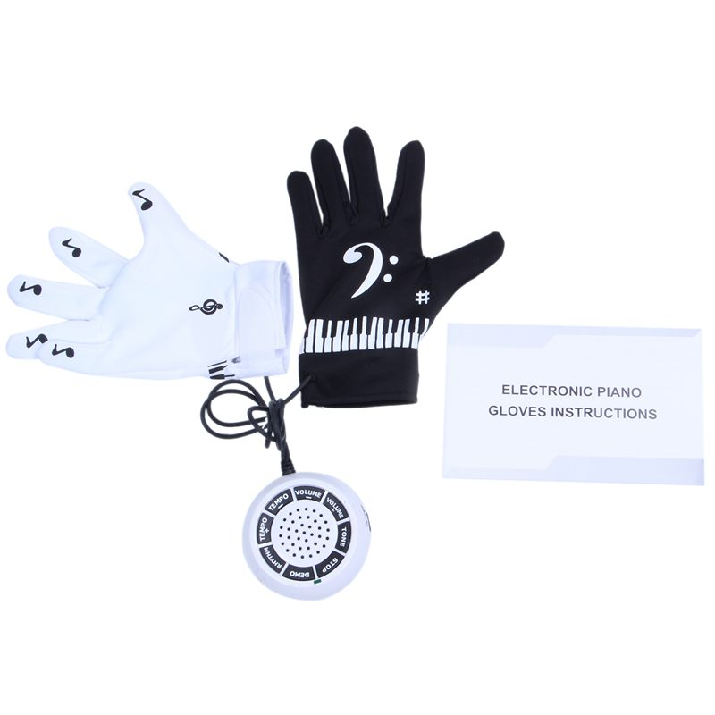Details about Electronic Piano Gloves with Built-in Speaker Demo Melody  Song Music Box Fu W9K6