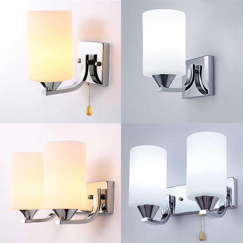 Verre-Moderne-Lumiere-Led-Applique-Murale-Eclairage-De-La-Lampe-Fixation-De-3E4 miniature 4