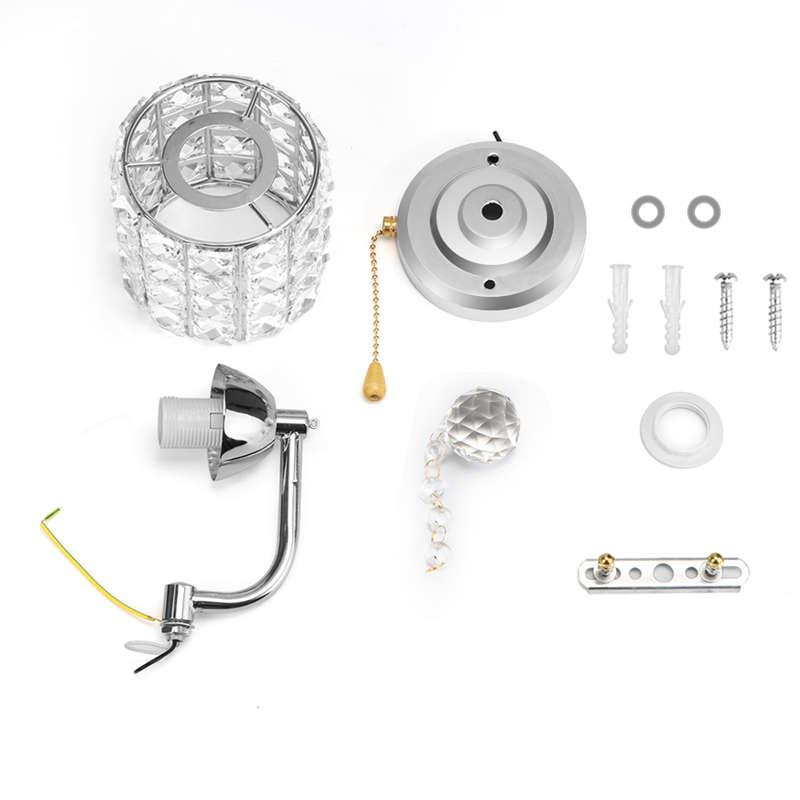 Moderne-Wand-Leuchte-Zylinder-Kristall-Halter-Mit-Anhaenger-Und-Zug-Schalter-E5U2 Indexbild 5