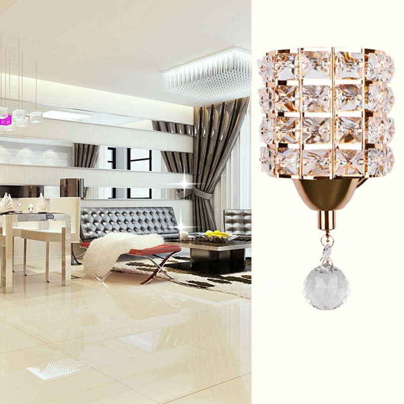 Moderne-Wand-Leuchte-Zylinder-Kristall-Halter-Mit-Anhaenger-Und-Zug-Schalter-E5U2 Indexbild 7