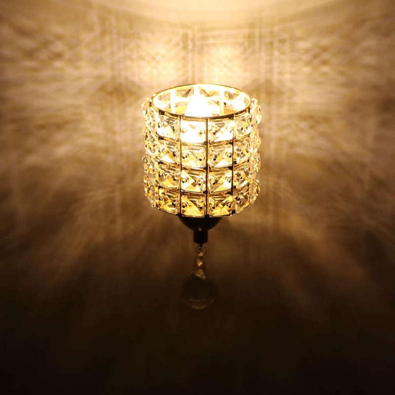 Moderne-Wand-Leuchte-Zylinder-Kristall-Halter-Mit-Anhaenger-Und-Zug-Schalter-E5U2 Indexbild 10