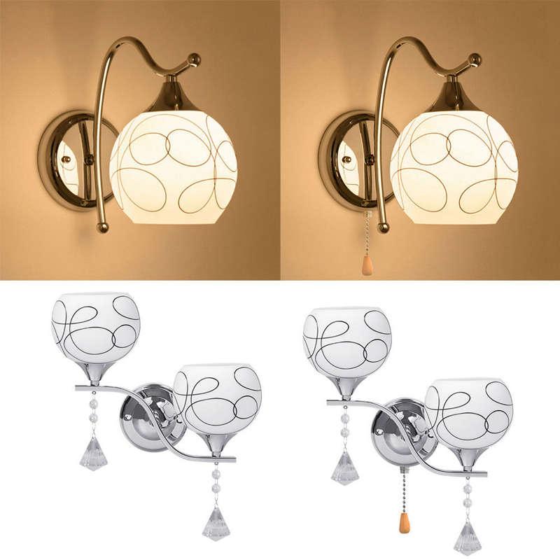 Moderno-Led-Luz-de-La-Pared-de-Cristal-Lampara-Porche-de-Pasillo-Aplique-de-7F4 miniatura 5