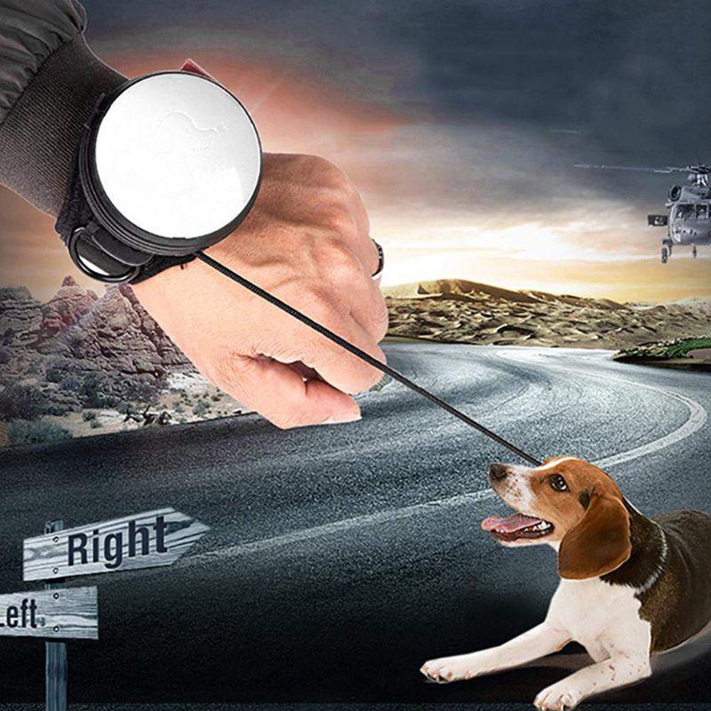 Laisse-de-chien-retractable-Avec-reglable-Poignet-Sangle-Main-libre-Chien-Z8K1 miniature 16