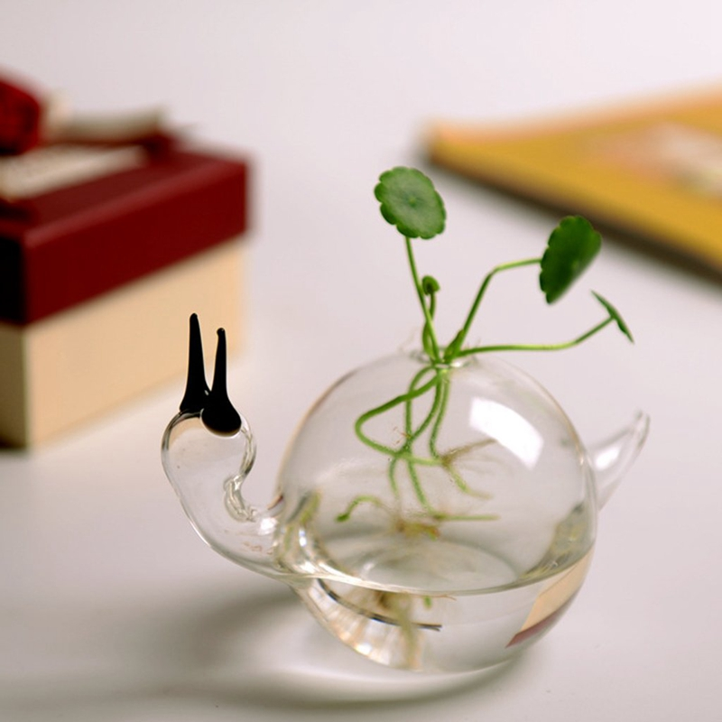 European-Ideas-Only-Beautiful-Delicate-Vase-The-Snail-A-Hydroponic-Flower-I-J2W8 thumbnail 4