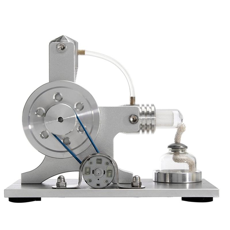 2X(Mini Hot Air Stirling Motor Power Electricity Generator Led Alpha Engin I9Q5)