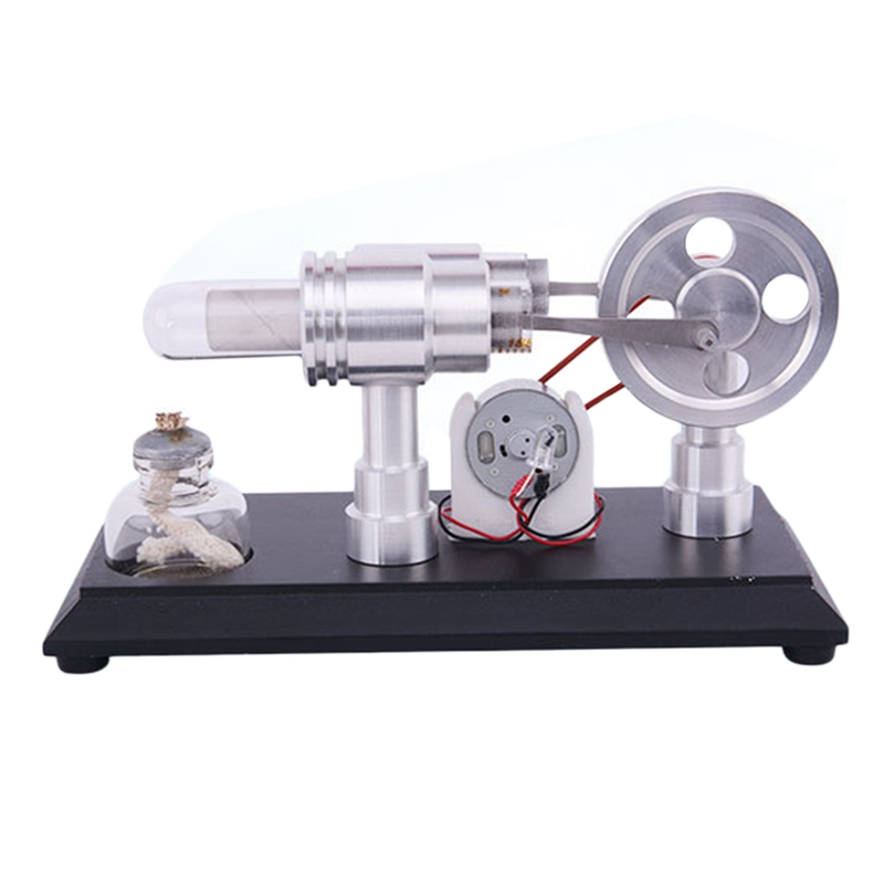 Double-Cylinder Micro-Diy Hot Air Stirling Engine Motor Model External Comb B8M9
