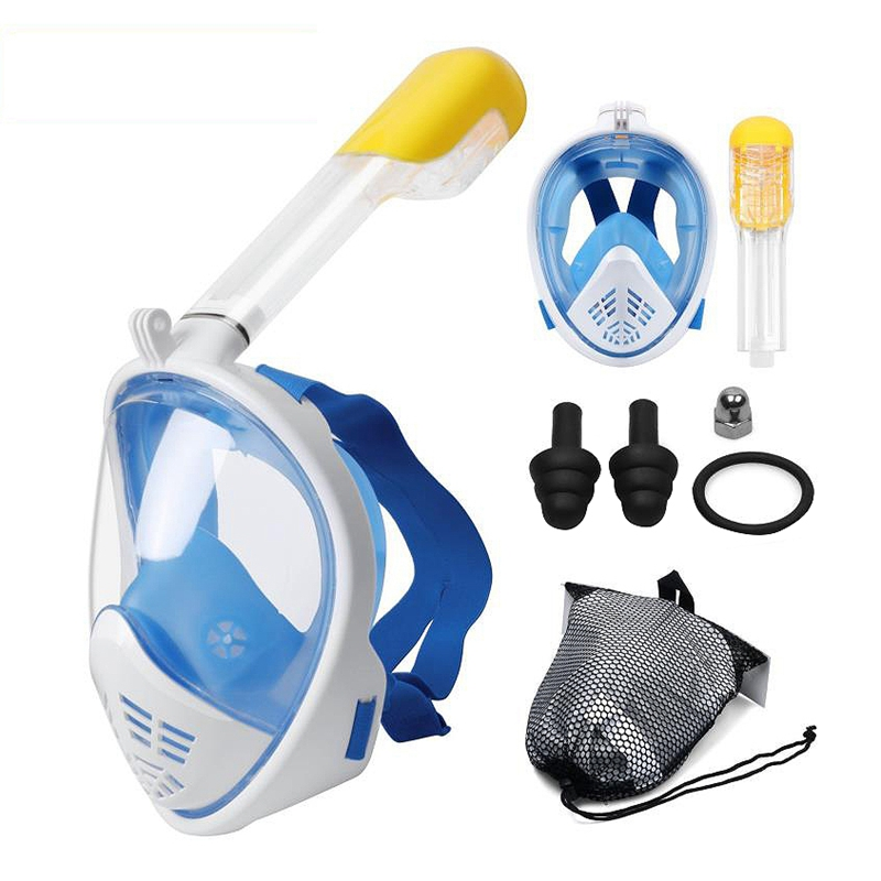 2X-Scuba-Diving-Mask-Full-Face-Snorkeling-Mask-Underwater-Anti-Fog-Snorkeli-L6K9 thumbnail 3