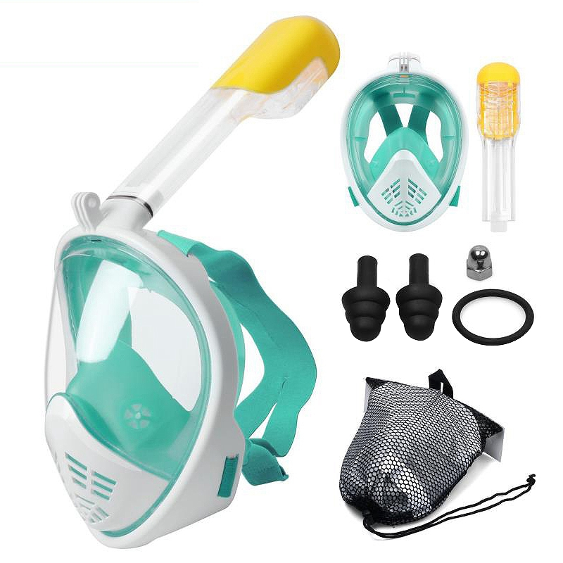 2X-Scuba-Diving-Mask-Full-Face-Snorkeling-Mask-Underwater-Anti-Fog-Snorkeli-L6K9 thumbnail 13