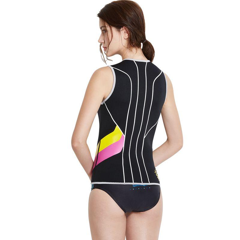 Dive-amp-Sail-Black-Womens-3Mm-Wetsuit-Vest-Sleeveless-Neoprene-Wetsuits-Top-Sc-E1D2 thumbnail 3