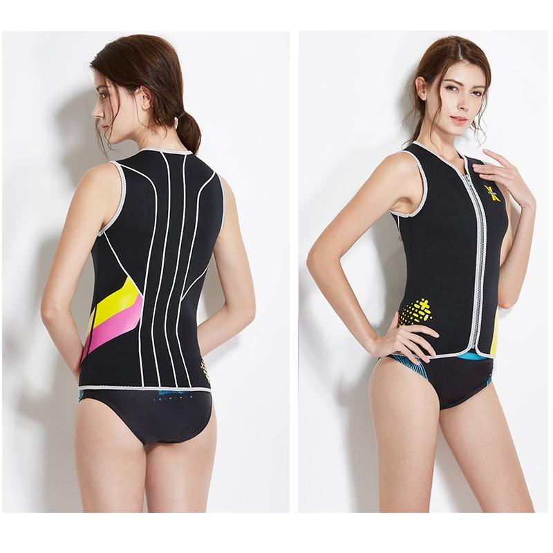 Dive-amp-Sail-Black-Womens-3Mm-Wetsuit-Vest-Sleeveless-Neoprene-Wetsuits-Top-Sc-E1D2 thumbnail 6