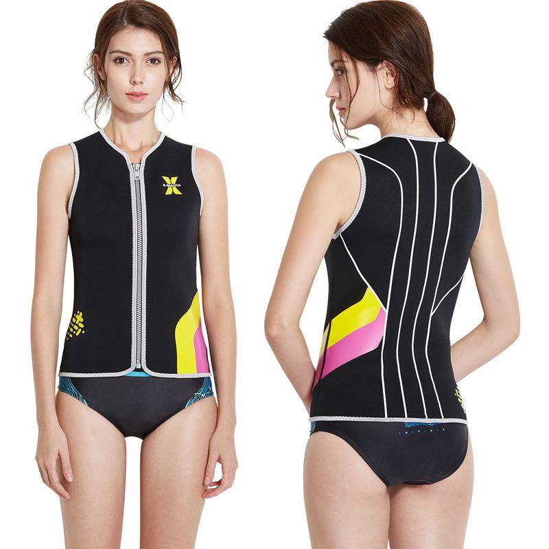 Dive-amp-Sail-Black-Womens-3Mm-Wetsuit-Vest-Sleeveless-Neoprene-Wetsuits-Top-Sc-E1D2 thumbnail 7