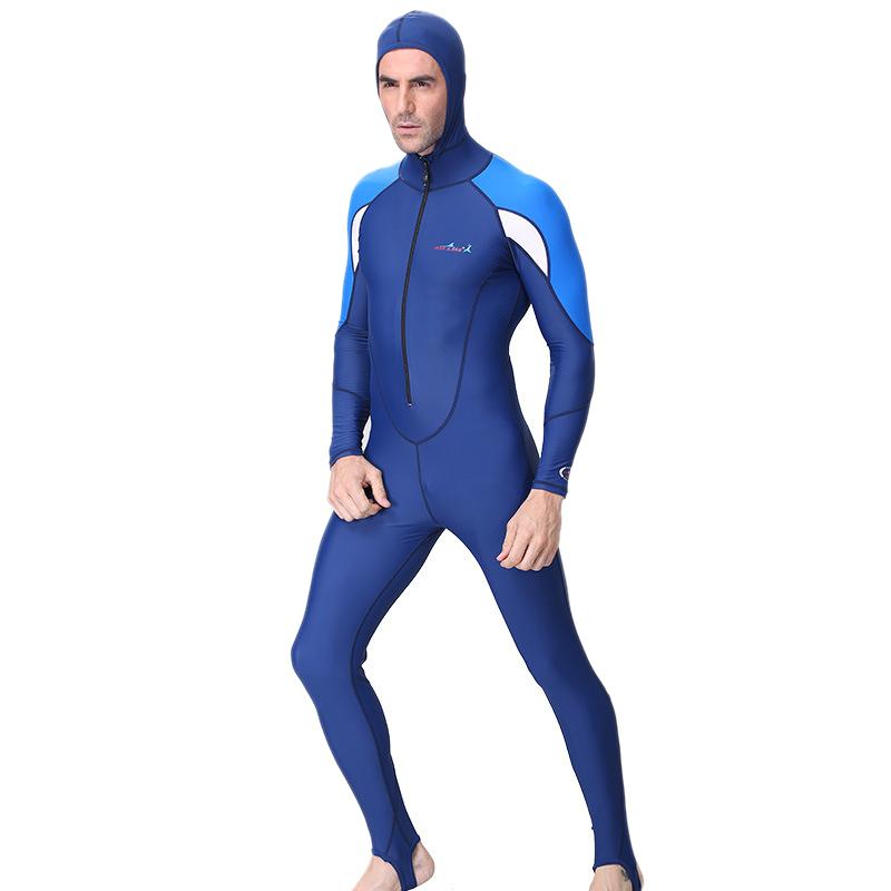 1X-DIVE-amp-SAIL-Azul-Traje-de-Aguijon-de-Nadar-Buceo-de-Piel-de-Buceo-Navegar-F2T4 miniatura 4