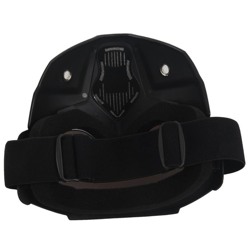 Course-d-039-autos-Modulaire-detachable-Casque-de-moto-Masque-de-protection-Boucl-58 miniature 15