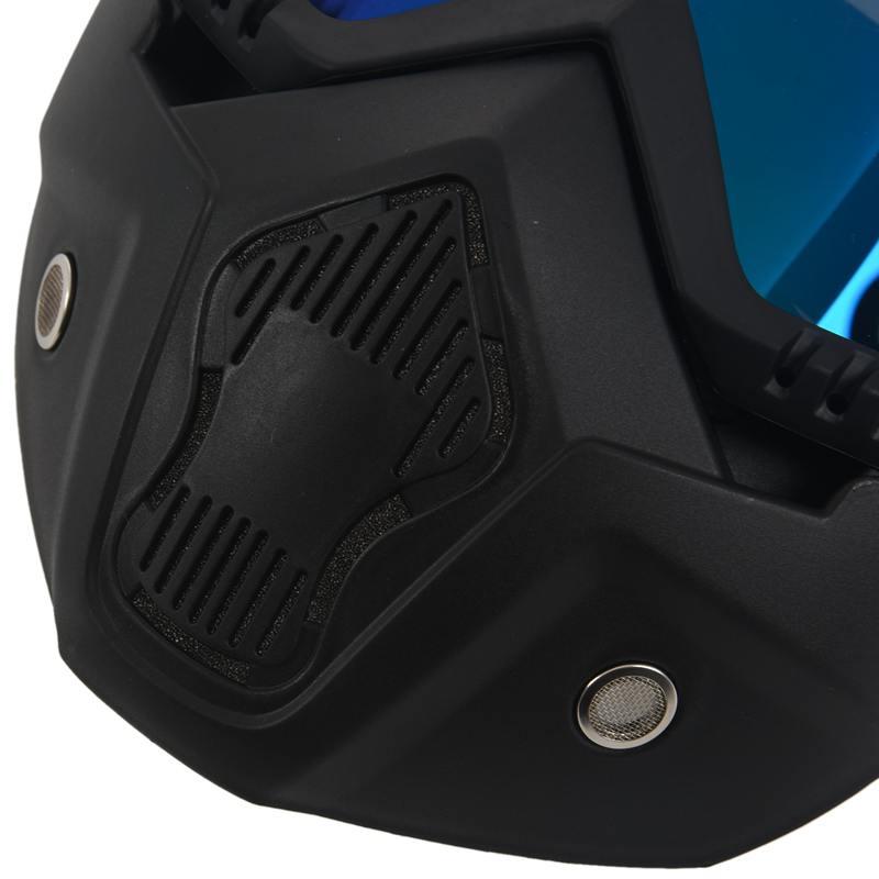 Course-d-039-autos-Modulaire-detachable-Casque-de-moto-Masque-de-protection-Boucl-58 miniature 16