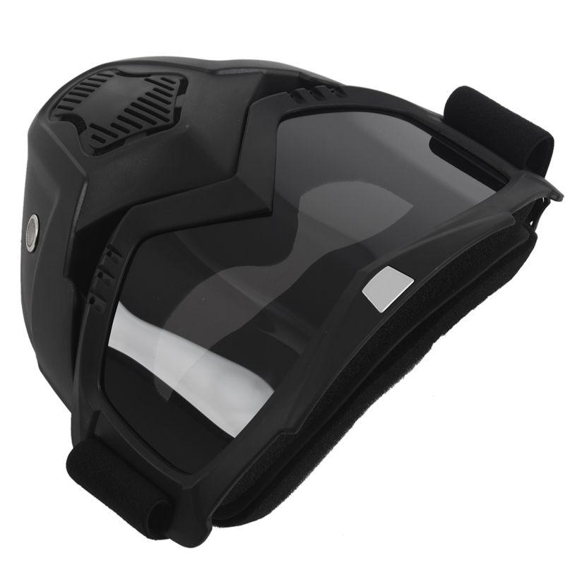 Course-d-039-autos-Modulaire-detachable-Casque-de-moto-Masque-de-protection-Boucl-58 miniature 29