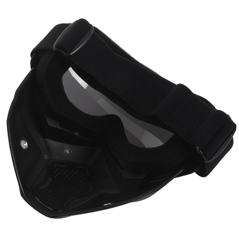 Course-d-039-autos-Modulaire-detachable-Casque-de-moto-Masque-de-protection-Boucl-58 miniature 30