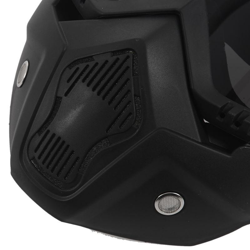 Course-d-039-autos-Modulaire-detachable-Casque-de-moto-Masque-de-protection-Boucl-58 miniature 32