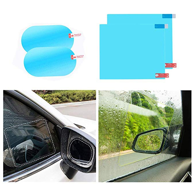 2x Auto Rückspiegel Wasserfest Anti-beschlag Regenfest Film Seitenfenster Tool