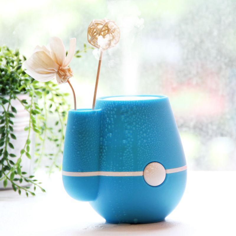 220Ml-Nouveau-Usb-Fleur-Vase-Forme-Bureau-A-Domicile-220Ml-Air-Brumisateur-T1T8 miniature 10
