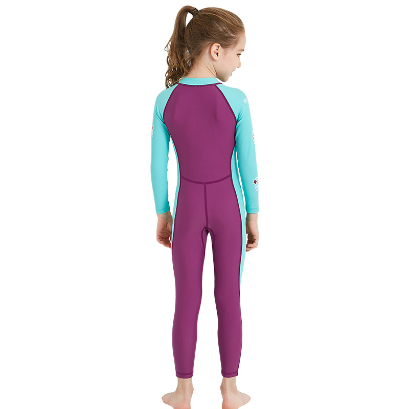 Dive-amp-Sail-New-Long-Sleeve-Wetsuit-Kids-One-Piece-Swimsuit-Diving-Suit-Girls-V4D1 thumbnail 3