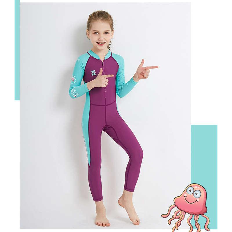 Dive-amp-Sail-New-Long-Sleeve-Wetsuit-Kids-One-Piece-Swimsuit-Diving-Suit-Girls-V4D1 thumbnail 5