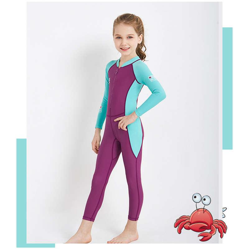 Dive-amp-Sail-New-Long-Sleeve-Wetsuit-Kids-One-Piece-Swimsuit-Diving-Suit-Girls-V4D1 thumbnail 6