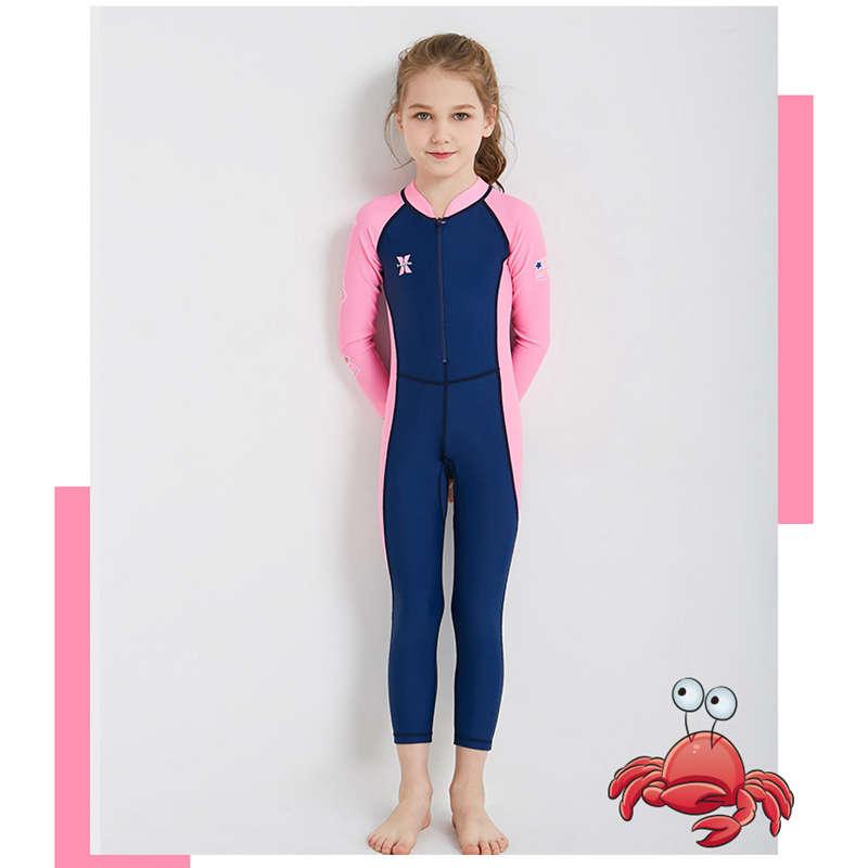 Dive-amp-Sail-New-Long-Sleeve-Wetsuit-Kids-One-Piece-Swimsuit-Diving-Suit-Girls-V4D1 thumbnail 10