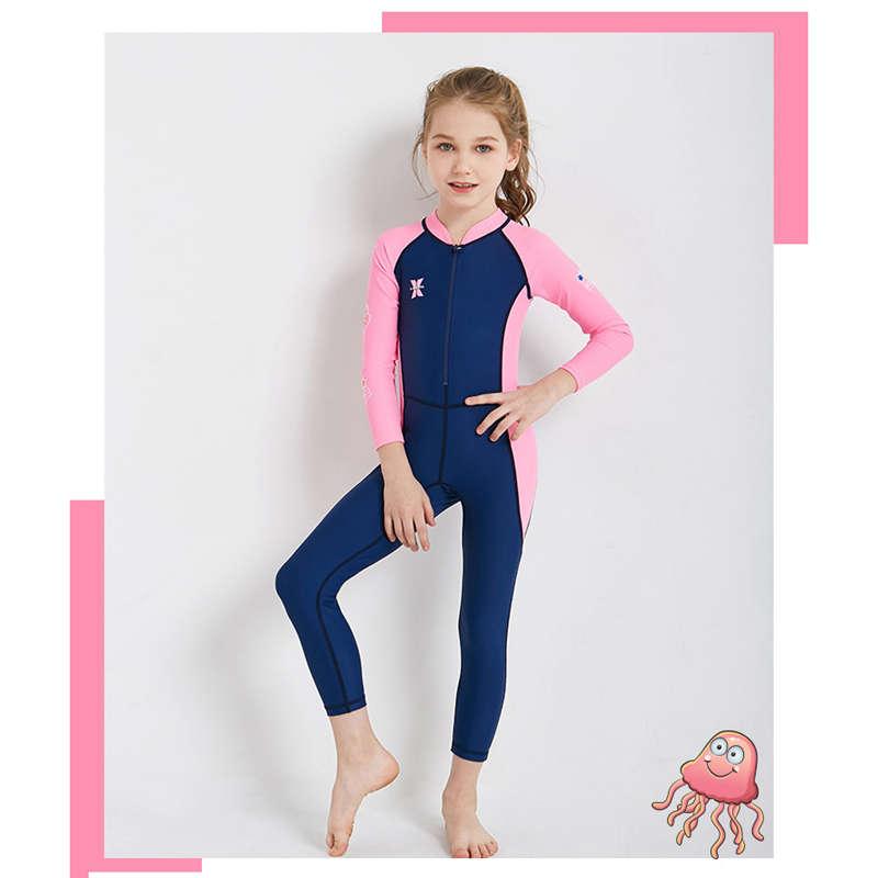 Dive-amp-Sail-New-Long-Sleeve-Wetsuit-Kids-One-Piece-Swimsuit-Diving-Suit-Girls-V4D1 thumbnail 11