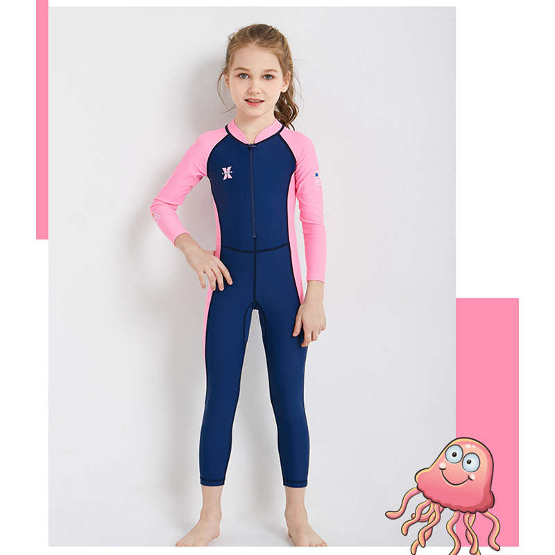 Dive-amp-Sail-New-Long-Sleeve-Wetsuit-Kids-One-Piece-Swimsuit-Diving-Suit-Girls-V4D1 thumbnail 12