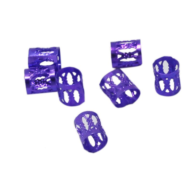 100Pcs-Hair-Braid-Dread-Dreadlock-Beads-Adjustable-Cuff-Clip-8Mm-Clip-Metal-C1U5 thumbnail 3