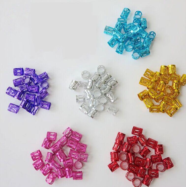 100Pcs-Hair-Braid-Dread-Dreadlock-Beads-Adjustable-Cuff-Clip-8Mm-Clip-Metal-C1U5 thumbnail 7
