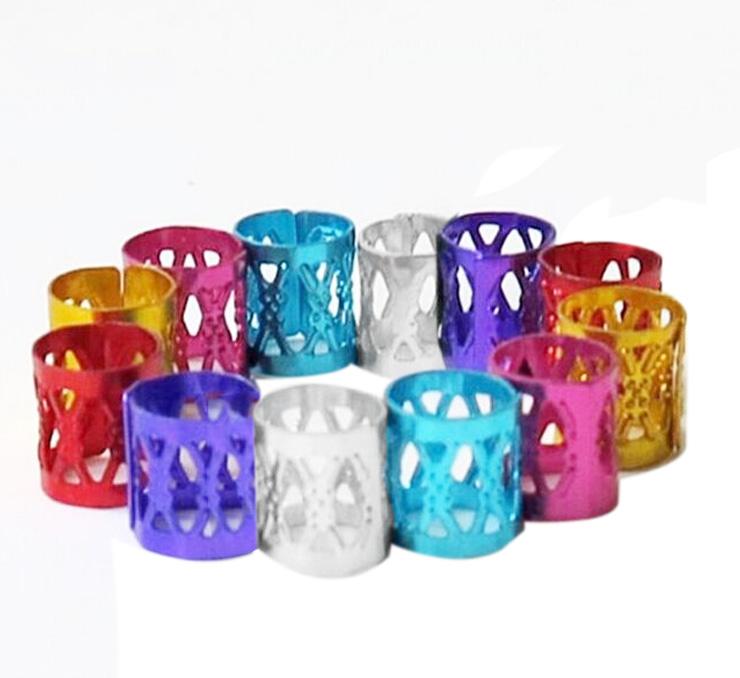 100Pcs-Hair-Braid-Dread-Dreadlock-Beads-Adjustable-Cuff-Clip-8Mm-Clip-Metal-C1U5 thumbnail 15
