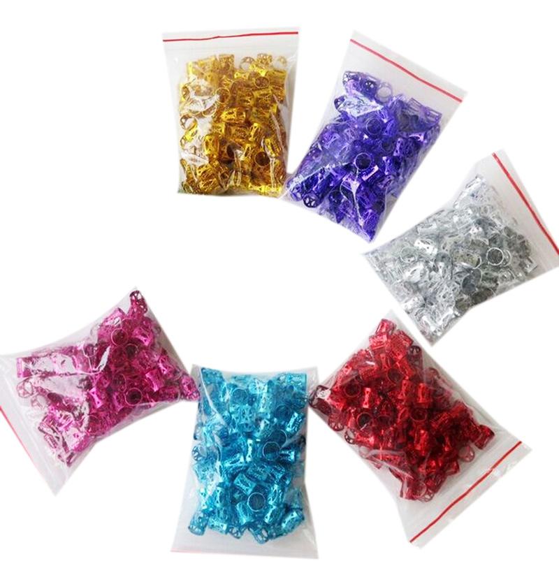 100Pcs-Hair-Braid-Dread-Dreadlock-Beads-Adjustable-Cuff-Clip-8Mm-Clip-Metal-C1U5 thumbnail 20