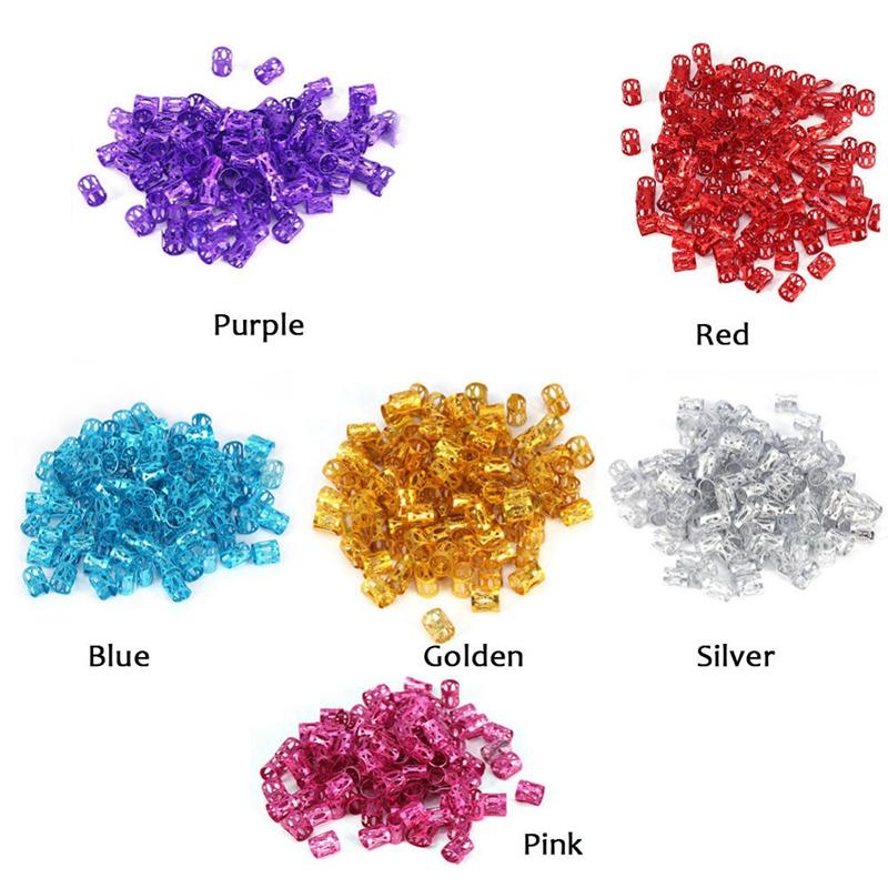 100Pcs-Hair-Braid-Dread-Dreadlock-Beads-Adjustable-Cuff-Clip-8Mm-Clip-Metal-C1U5 thumbnail 59