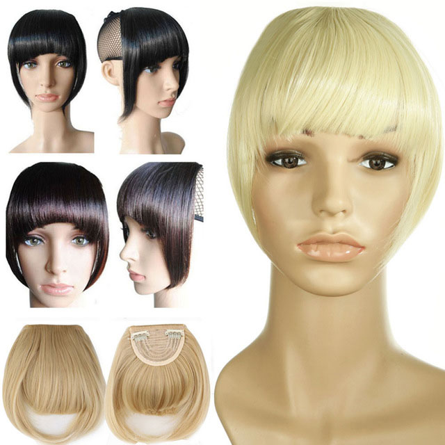 Agrafe-De-Frange-Soigne-A-L-039-Avant-Court-dans-Extensions-De-Cheveux-A-Frange-T4P8 miniature 3