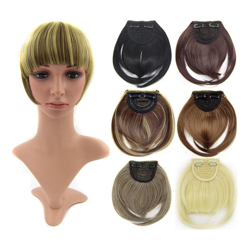 Agrafe-De-Frange-Soigne-A-L-039-Avant-Court-dans-Extensions-De-Cheveux-A-Frange-T4P8 miniature 4