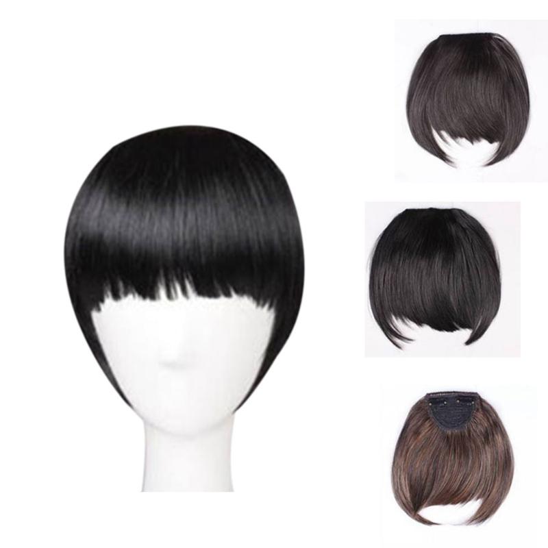 Agrafe-De-Frange-Soigne-A-L-039-Avant-Court-dans-Extensions-De-Cheveux-A-Frange-T4P8 miniature 7