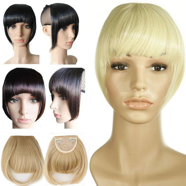Agrafe-De-Frange-Soigne-A-L-039-Avant-Court-dans-Extensions-De-Cheveux-A-Frange-T4P8 miniature 27