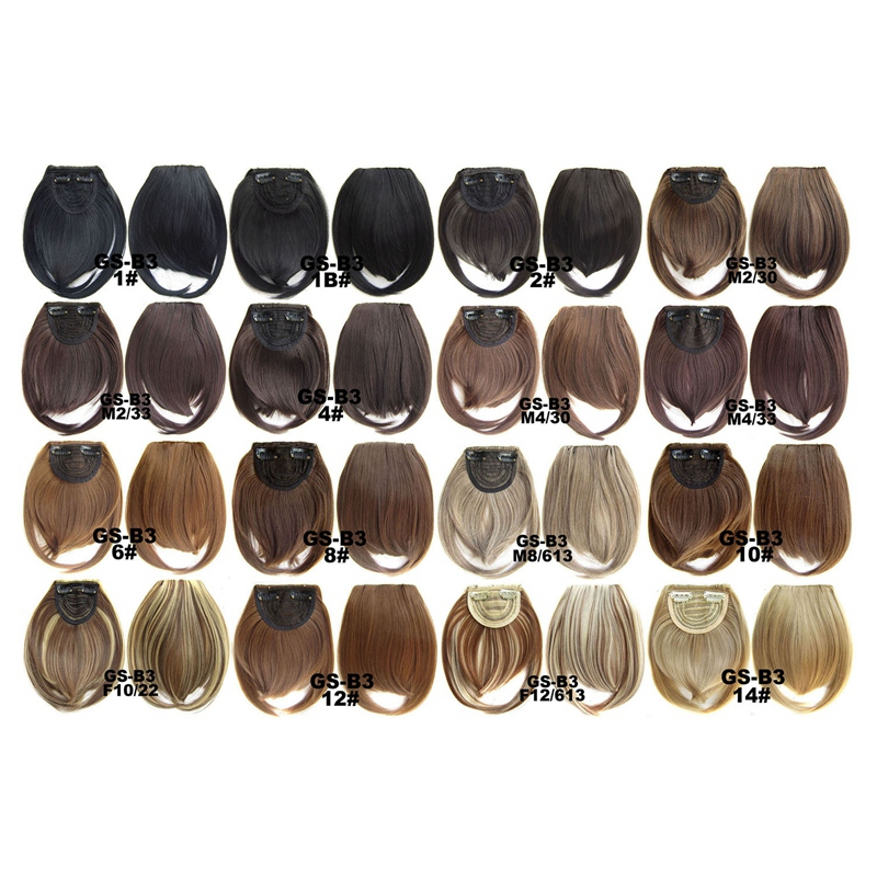 Agrafe-De-Frange-Soigne-A-L-039-Avant-Court-dans-Extensions-De-Cheveux-A-Frange-T4P8 miniature 107