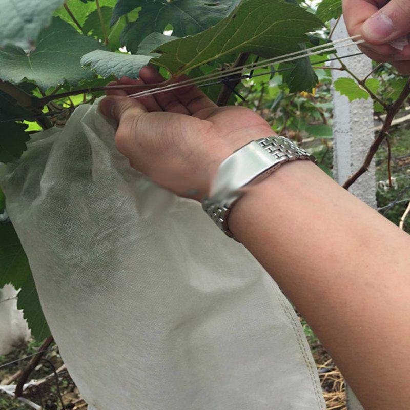 1X-100Pcs-Grape-Protection-Bags-For-Fruit-Vegetable-Grapes-Mesh-Bag-Against2D6 thumbnail 6