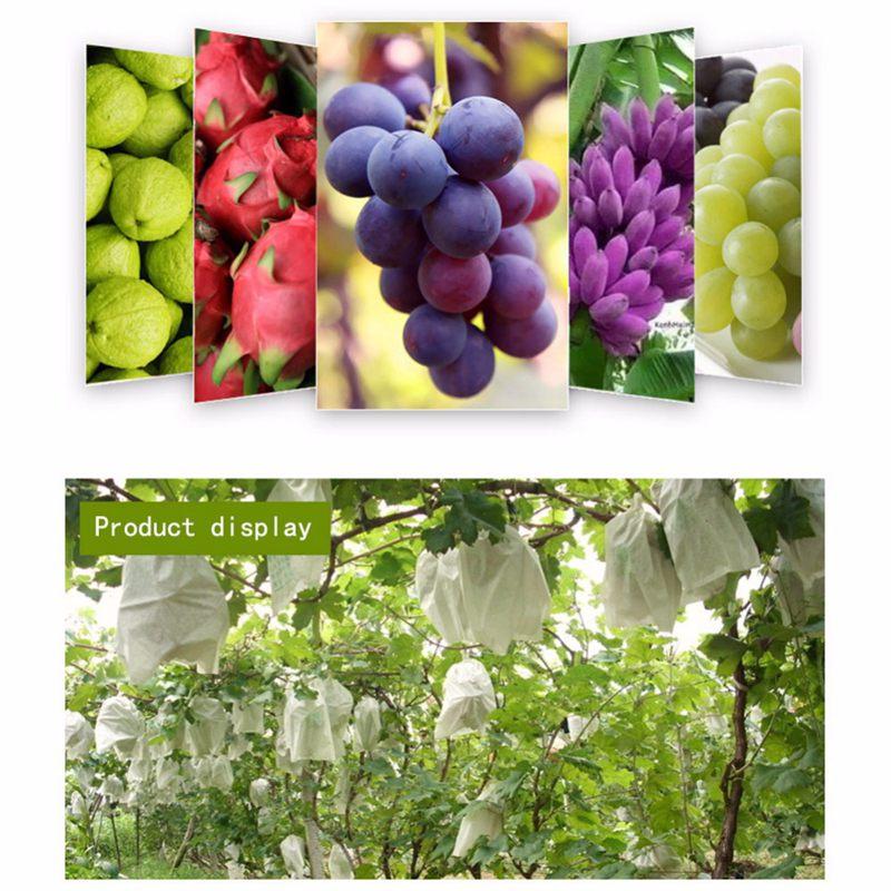 1X-100Pcs-Grape-Protection-Bags-For-Fruit-Vegetable-Grapes-Mesh-Bag-Against2D6 thumbnail 8