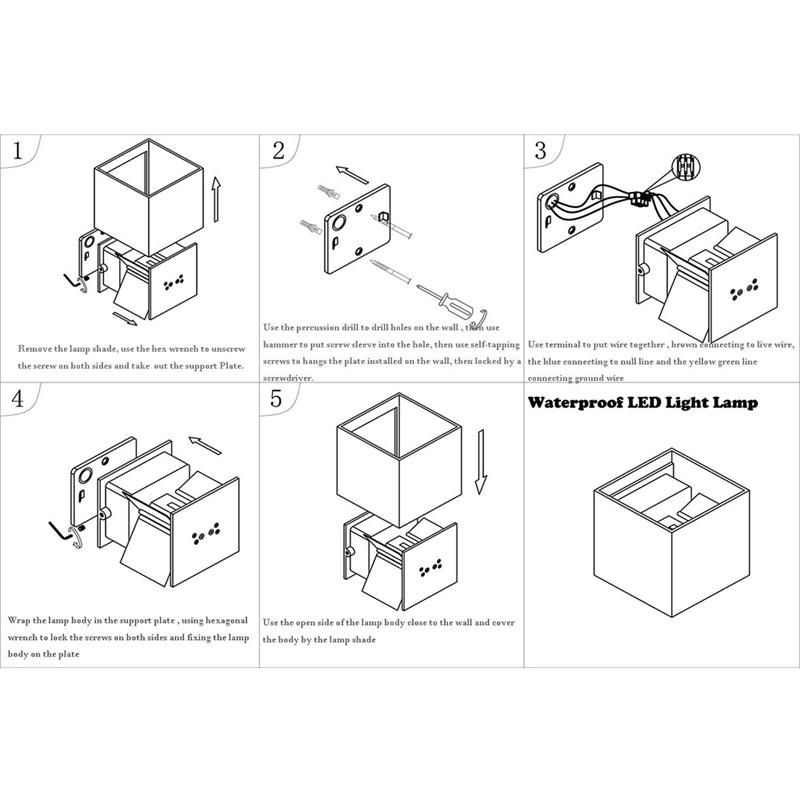 Decoration-De-Maison-Applique-Murale-Led-12W-Cob-Appliques-Murales-En-Alumi-7M2 miniature 7