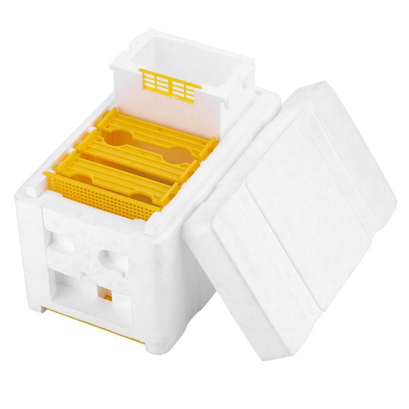 Bienen Stock Bienen Zucht Imkerei King Box Bestäubungs Box Schaum Rahmen 2kr 1X