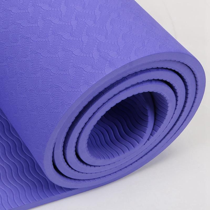 1X-6Mm-183X61Cm-Estera-de-Yoga-Antideslizante-de-Tpe-Estera-de-Gimnasio-Sin-L1K1 miniatura 9