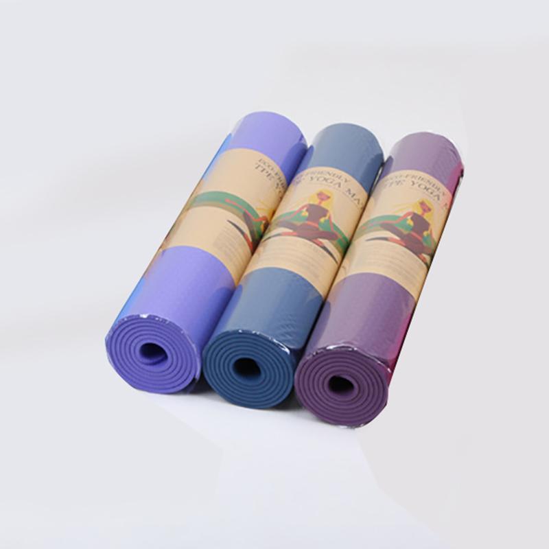 1X-6Mm-183X61Cm-Estera-de-Yoga-Antideslizante-de-Tpe-Estera-de-Gimnasio-Sin-L1K1 miniatura 13