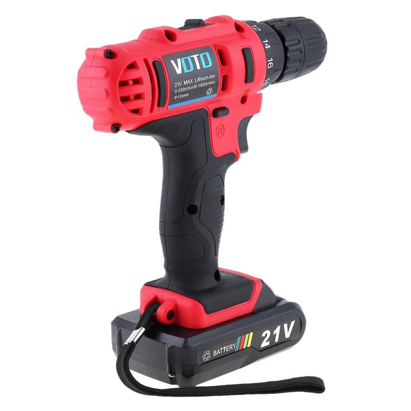 1X-VOTO-Vt104-Ac-100-240V-Sin-Cable-21V-Destornillador-Taladro-Electrico-X7W9 miniatura 3