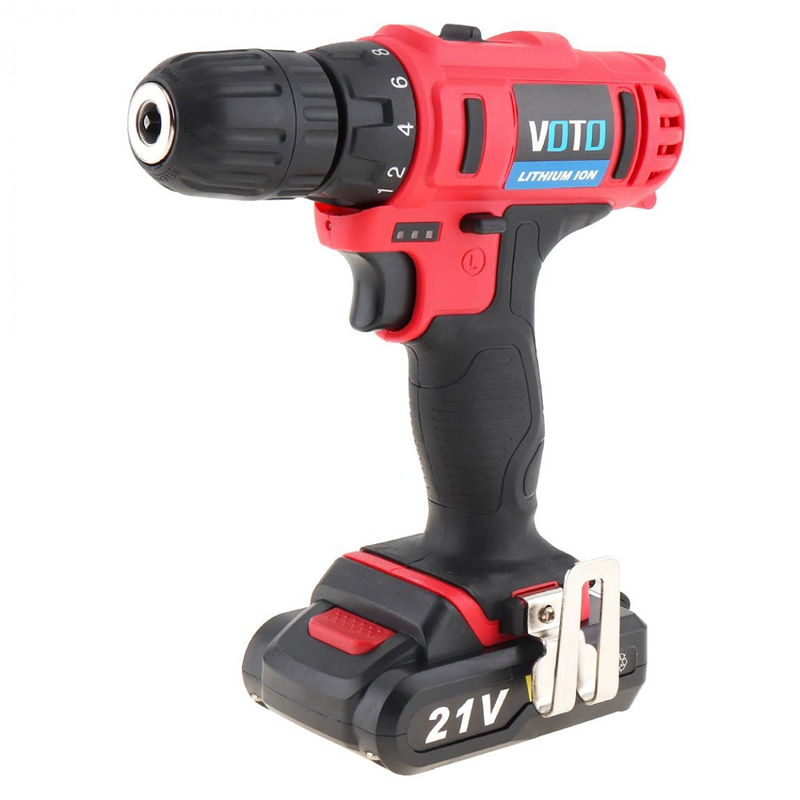 1X-VOTO-Vt104-Ac-100-240V-Sin-Cable-21V-Destornillador-Taladro-Electrico-X7W9 miniatura 4